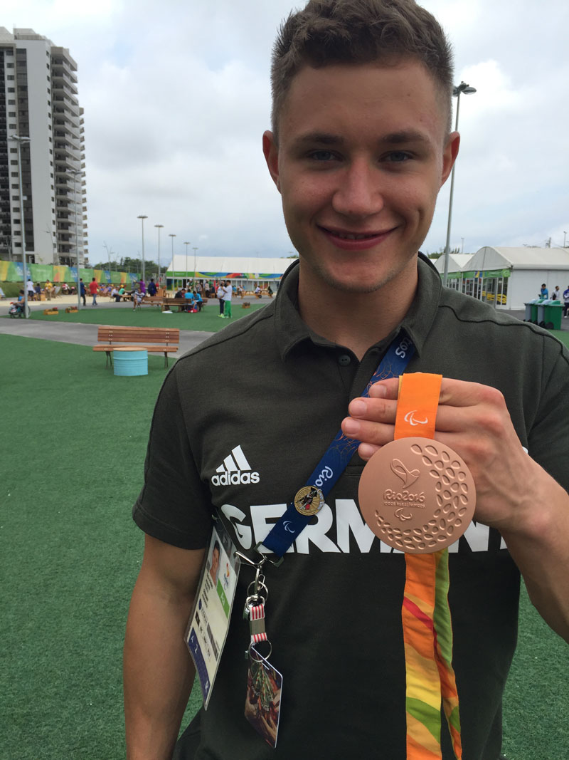 Felix Streng, Germany, Bronze 100 meter dash