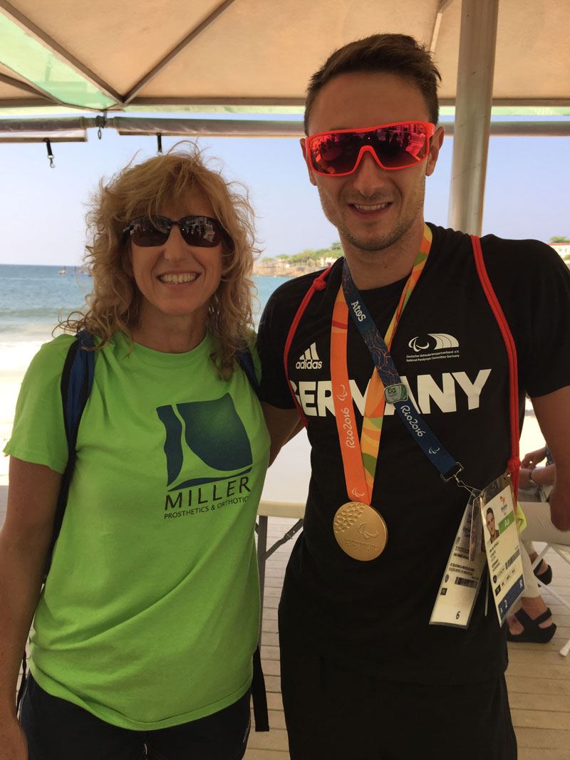 We also met Martin Schulz, who won the Gold Medal in the Triathlon for Germany on the previous day, September 10.